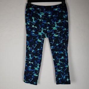 ATHLETA Black, Turquoise, & Black Capri Yoga Pants